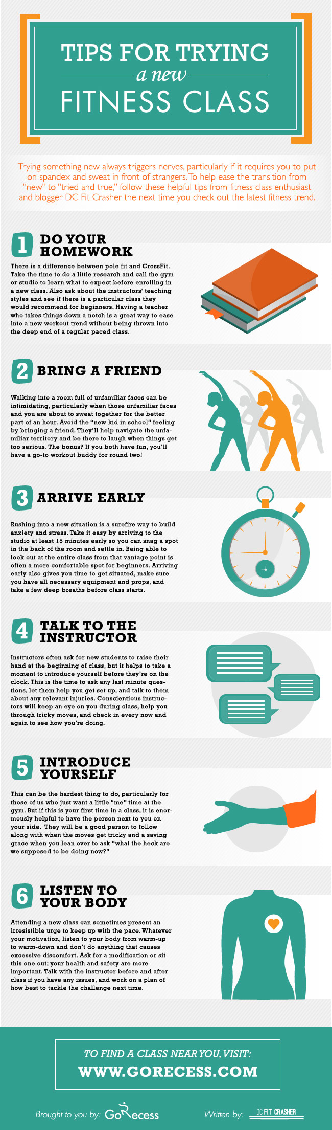Tips For Trying A New Fitness Class : infographic